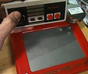 NES Nintendo Entertainment Sketch Etch-a-Sketch