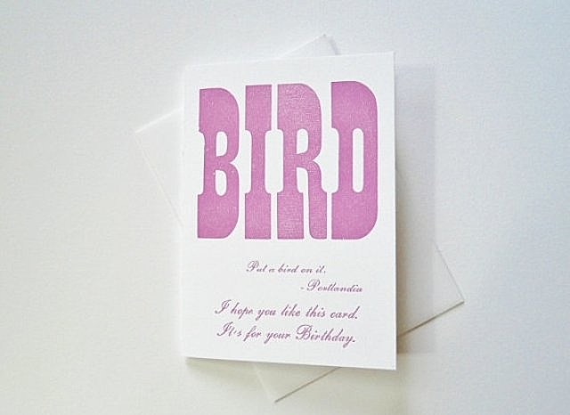 Portlandia, Bird, birthday, card