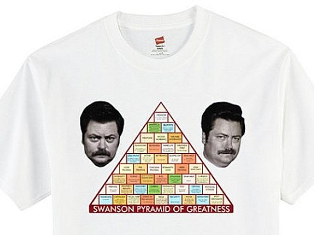 Parks and Recreation, Ron Swanson, Pyramid of Greatness