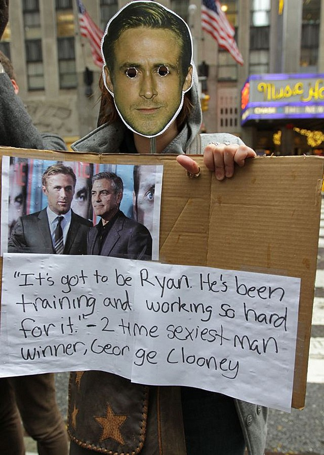 Ryan Gosling Sexiest man protest