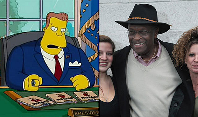 herman cain arnold schwarzenegger simpsons movie