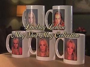 Lindsay Lohan mugs
