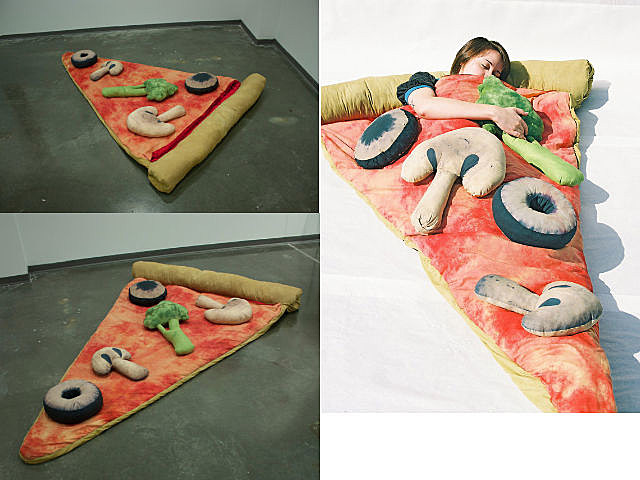 pizza slice sleeping bags will give you delicious dreams. Black Bedroom Furniture Sets. Home Design Ideas
