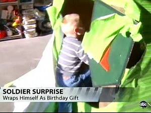 soldier birthday surprise