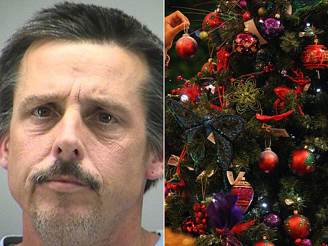 Terry Trent decorates Christmas tree after breaking in