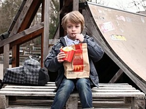 Boy Hides McDonald's Fries in a Burger King Bag