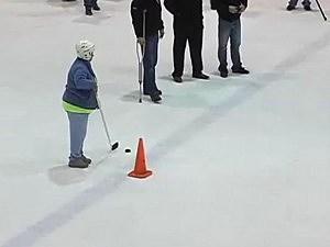 Brenda Hewett hockey goal