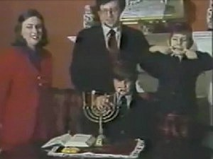 Kids Derails Hanukkah Candle Lighting on Live TV