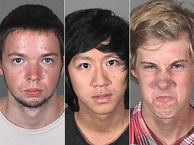Nicholas Fiumetto, Andy Huynh, and Nicholas Kalscheuer beer theieves mugshots