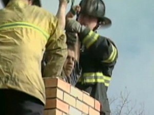 Teen Gets Stuck in Chimney