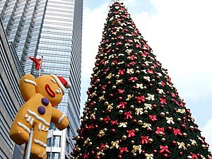 christmas tree display large