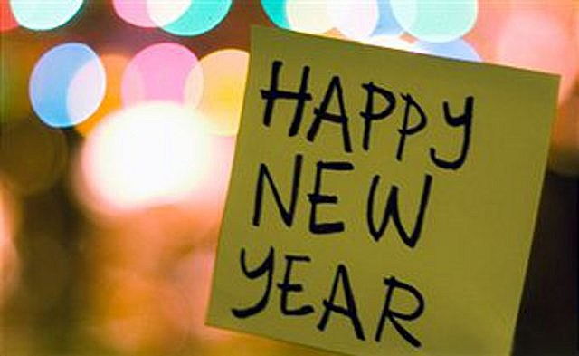 happy new year postit