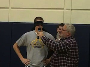 kissing pep rally high school winter captains parents Rosemount High school minnesota