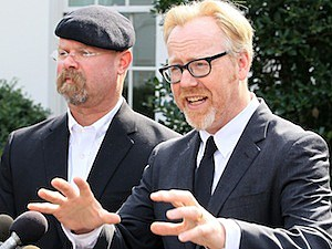 jamie hyneman adam savage mythbusters discovery channel