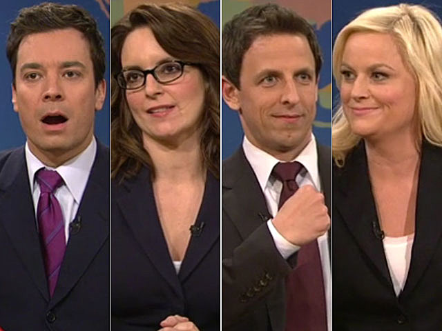 Jimmy Fallon, Tina Fey, Amy Poehler, Seth Meyers, 'SNL' Joke Off