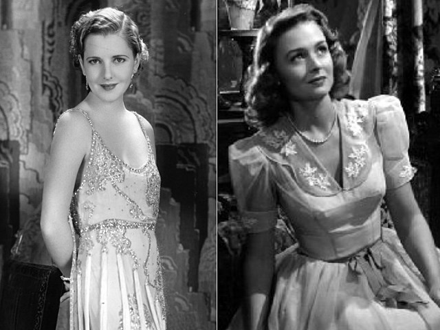 Jean Arthur and Donna Reed as Mary Bailey