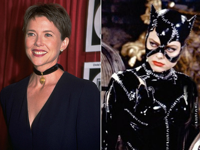 Annette Bening and Michelle Pfieffer as Catwoman