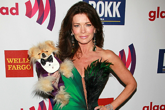 Lisa Vanderpump and her VanderPup