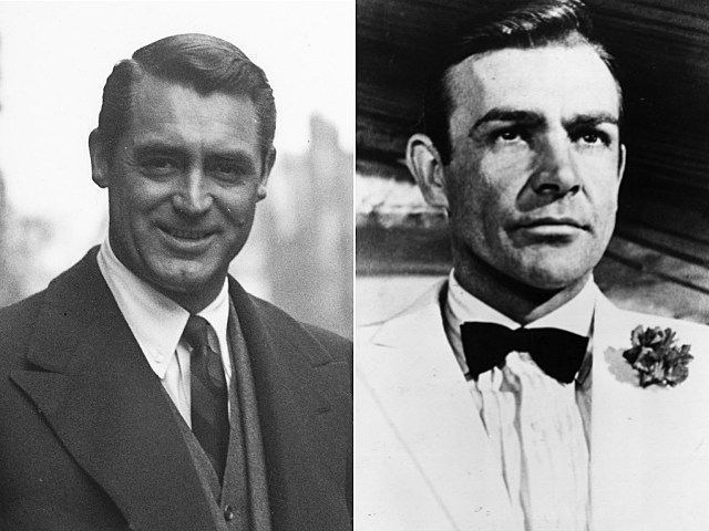 Cary Grant and Sean Connery as James Bond
