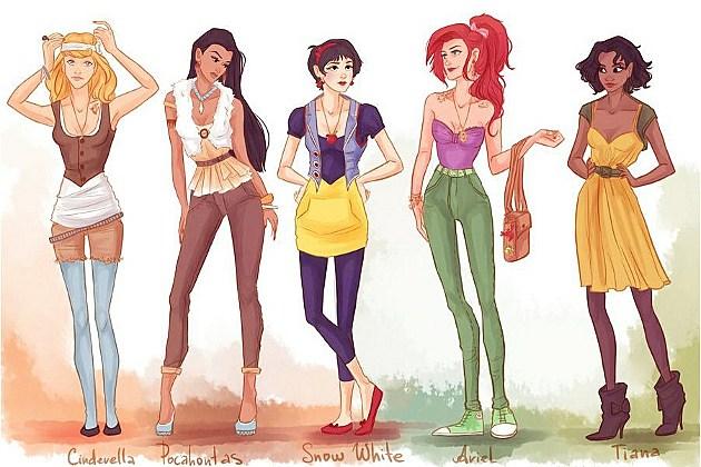 hipsters Disney princesses as