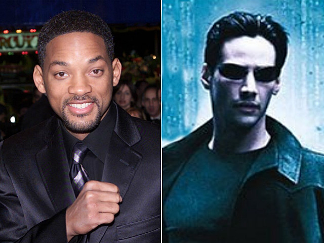 Will Smith and Keanu Reeves as Neo