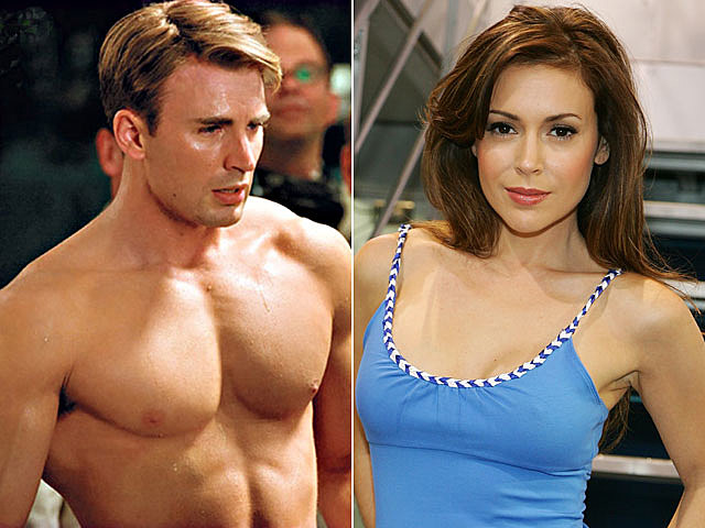 Chris Evans, Alyssa Milano