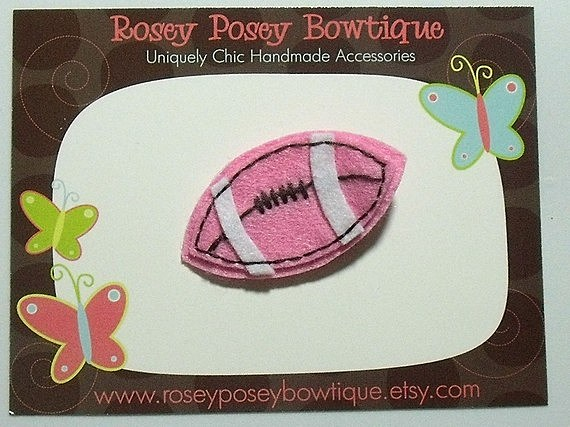 Super, Bowl, party, princess, football, hair, clip