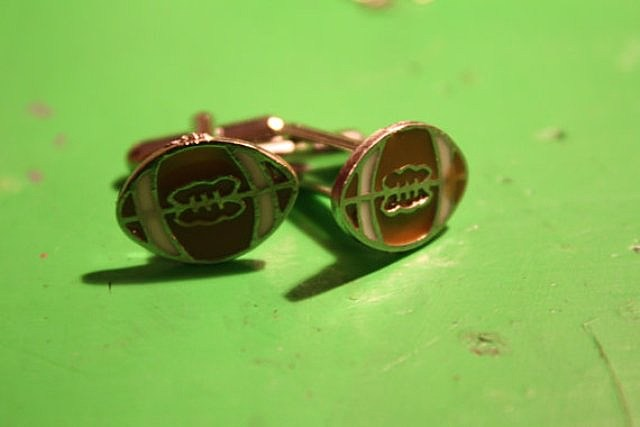 Super, Bowl, party, football, cufflinks