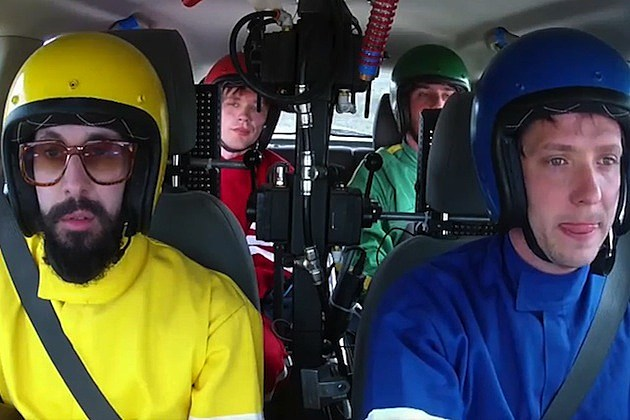 okgo sonic chevy chevrolet super bowl video Needing/Getting Damian Kulash (lead vocals and guitar), Tim Nordwind (bass guitar and vocals), Dan Konopka (drums and percussion) and Andy Ross (guitar, keyboards and vocals)