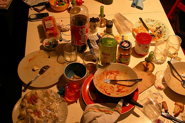 the mess after the big party