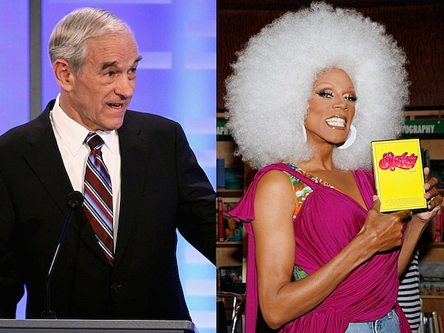 ron paul presidential candidate new hampshire rupaul drag queen RuPaul Andre Charles