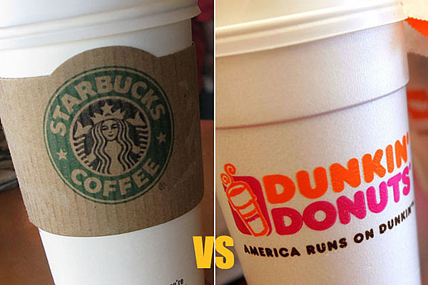 starbucks vs dunkin donuts case study Case study: dunkin' donuts  the coffee category was enjoying tremendous growth in the marketplace with new entrants including starbucks and peets,.