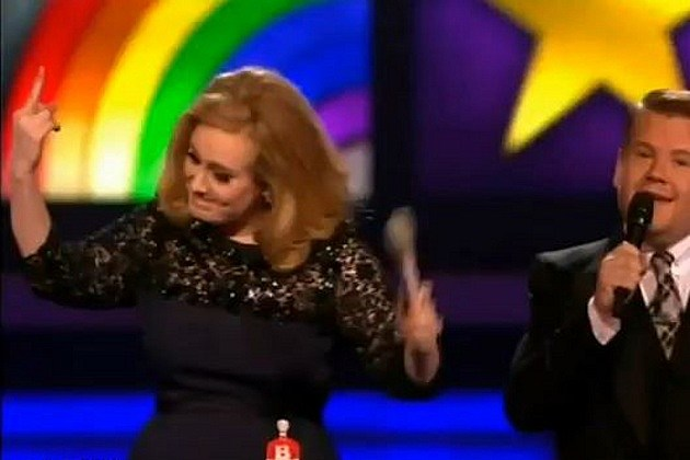 Adele middle finger