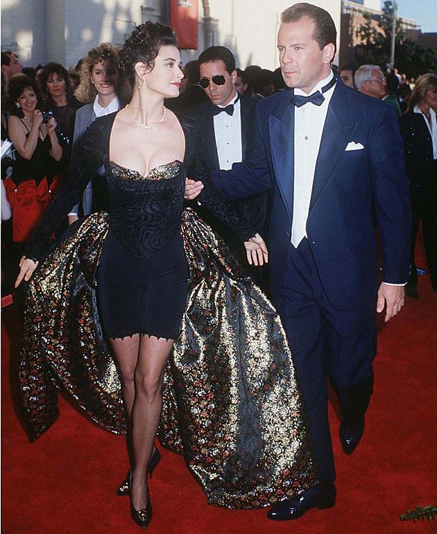Demi Moore's weird Oscars dress