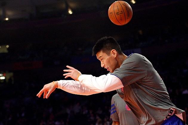 Jeremy Lin clowning