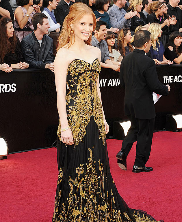 Jessica Chastain 2012 Oscars best dressed
