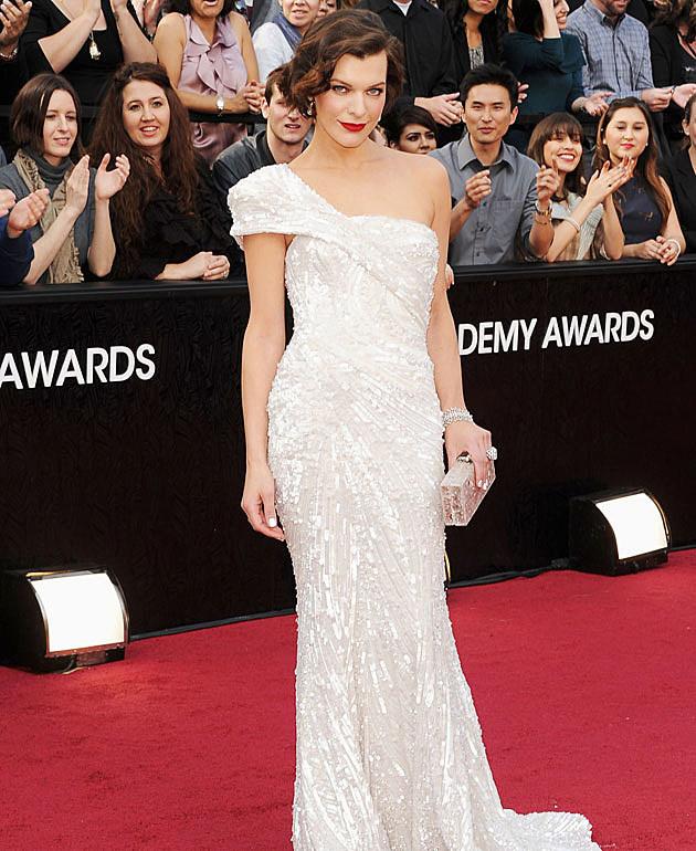 Milla Jovovich 2012 Oscars best dressed