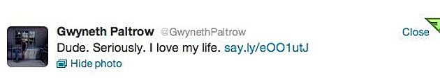 Paltrow tweet