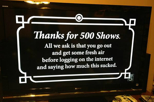 message to viewers at the end of 'The Simpsons' 500th episode