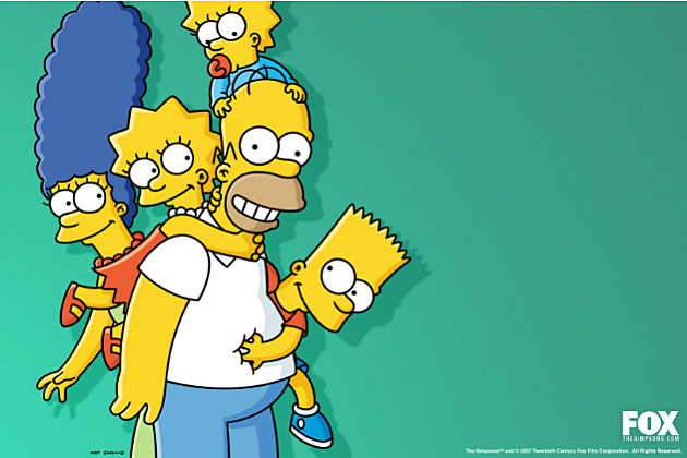 Simpsons family photo