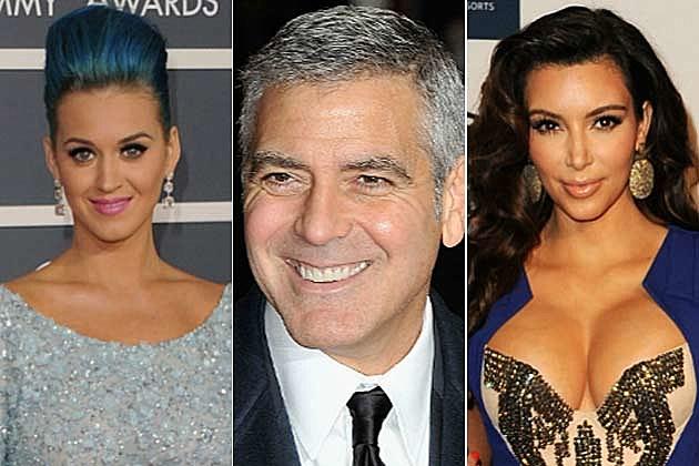 Katy Perry, George Clooney, Kim Kardashian