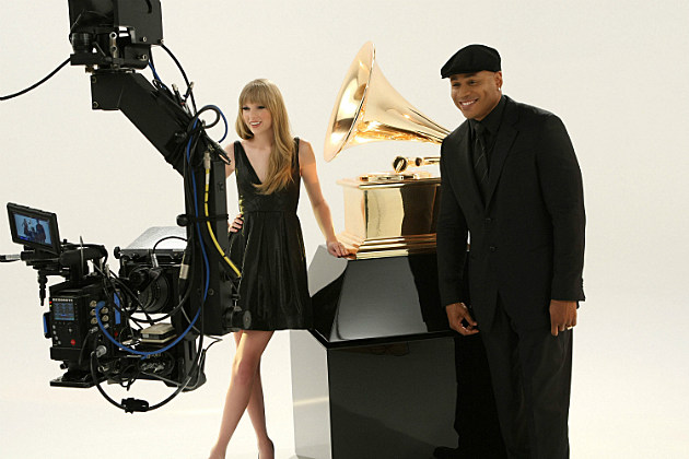 Taylor Swift and LL Cool J promote the Grammys