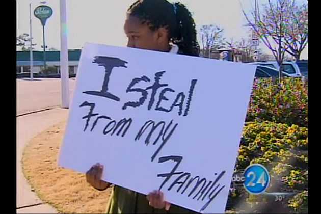 13 year old Memphis girl had to hold this sign for all to see