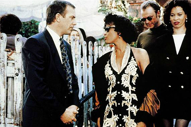 Whitney Houston and Kevin Costner in 'The Bodyguard'