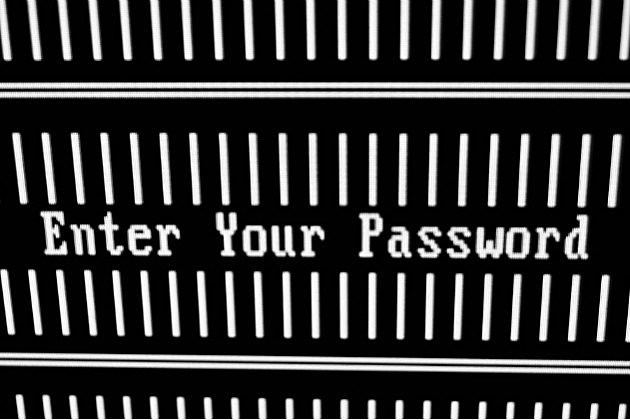 enter password screen