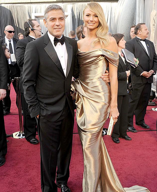 George Clooney, Stacy Kiebler 2012 Oscars Best Dressed