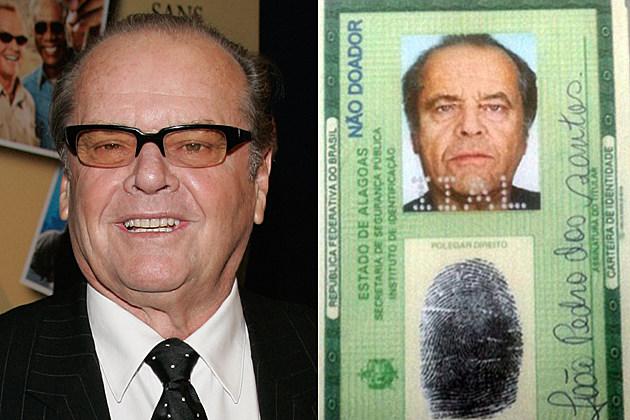 jack nicholson fake ID