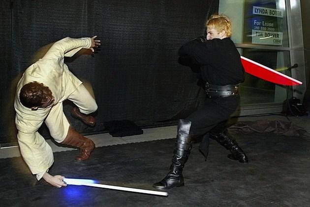 lightsabers star wars fight