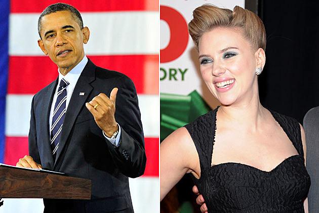 President Obama, Scarlett Johansson