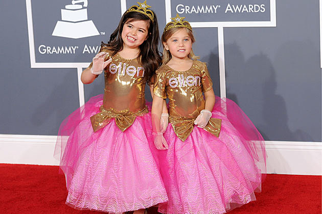 Sophia Grace 'Super Bass' girls at Grammys